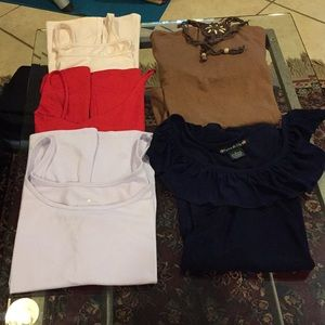 Special Bundle (5) size Large Tops good condition